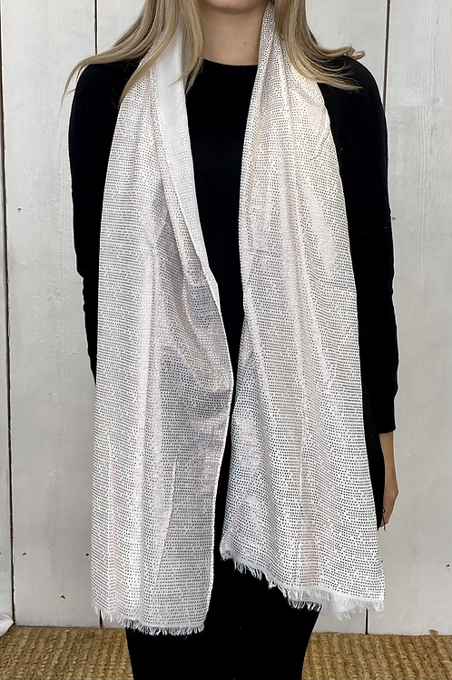 White Rose Gold Triangle Scarf