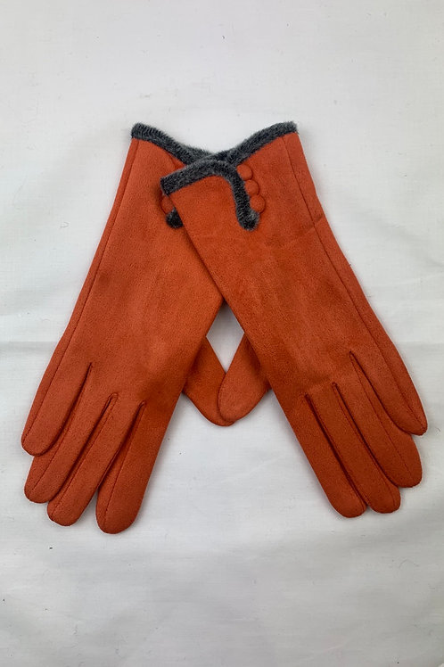 Orange Button Gloves