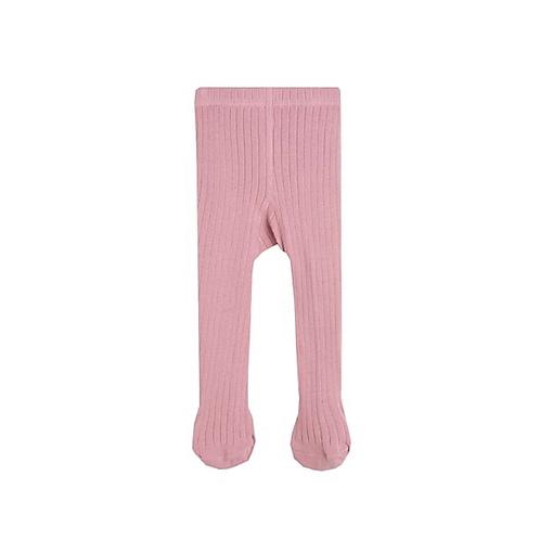 Pink ribbed tights