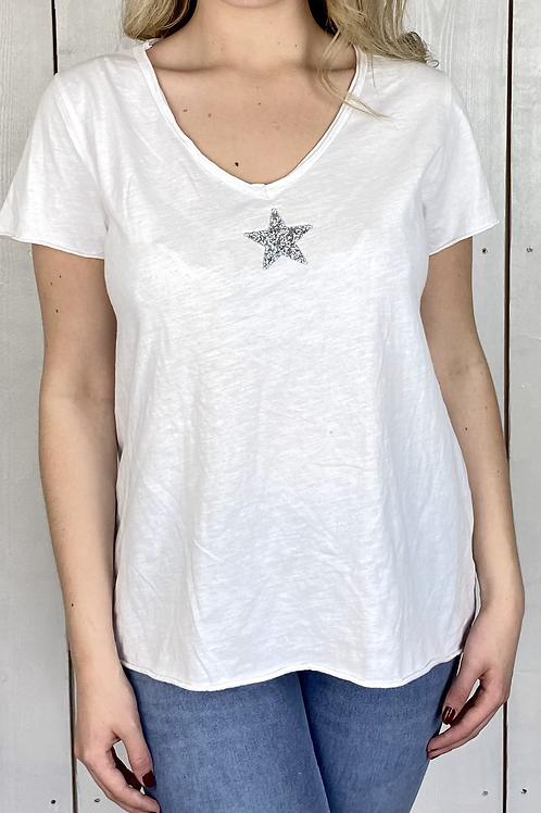 Diamond Star V Neck T-Shirt