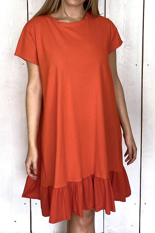 Frill Trim T-shirt Dress
