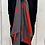 Thumbnail: Red/ Grey Soft Ribbed Star Scarf