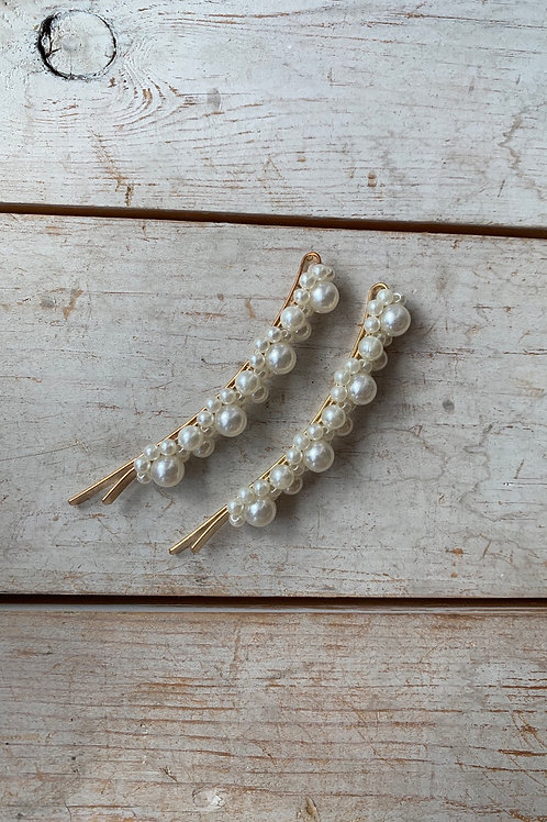Long Pearl Hair Clips