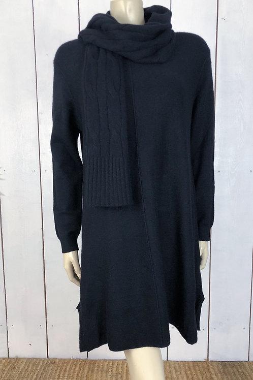 Soft Knit Dress/Tunic With Scarf
