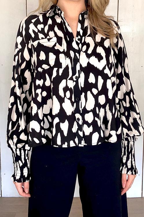 Animal Print High Low Shirt