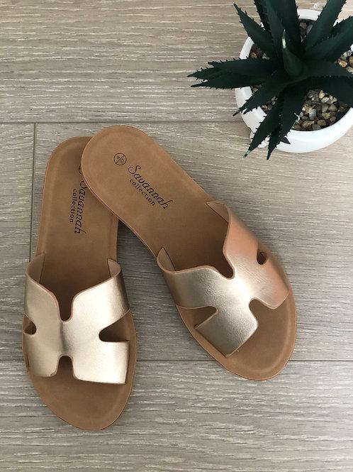 Rose Gold H Sandals