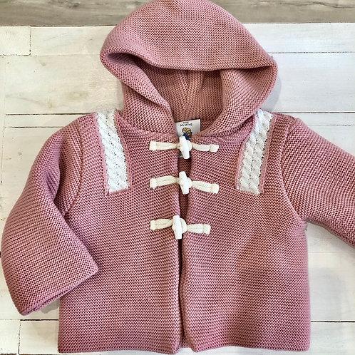 Chunky knit baby cardigan