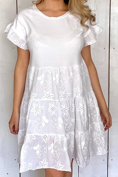 Broderie Smock Dress