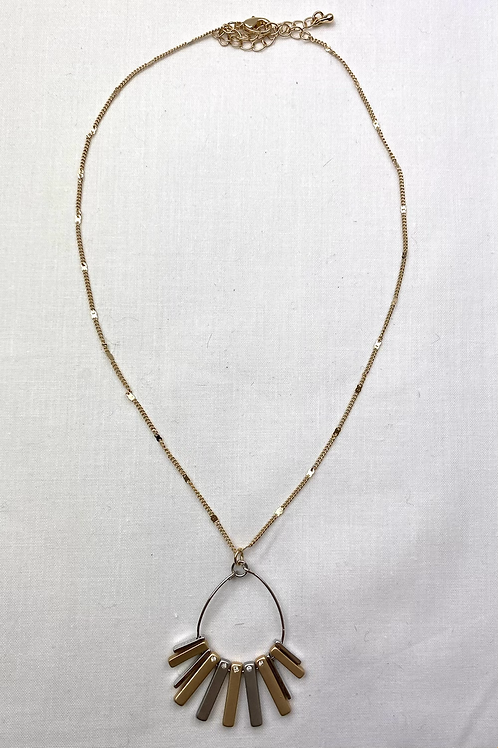 Gold/ Silver Bar Necklace