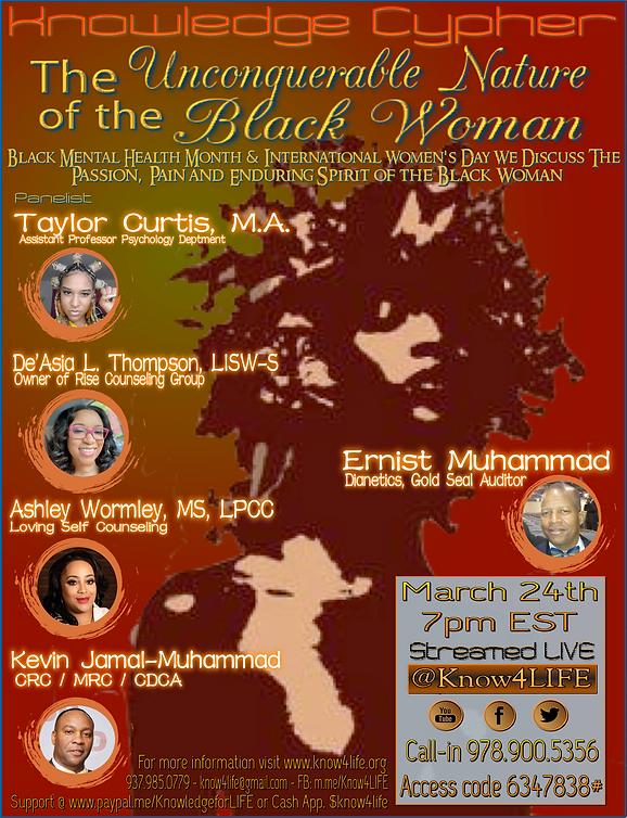 Black Woman - Knowledge Cypher -large fl