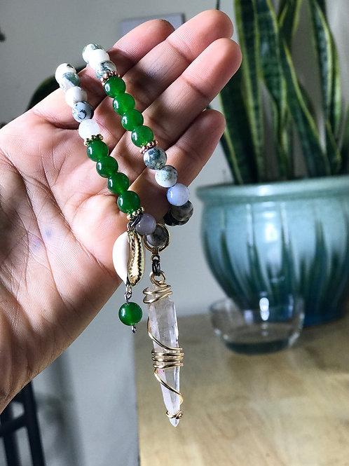Jade + Tree Agate with Quartz