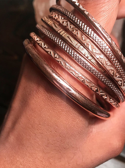 Copper Bangles x 3