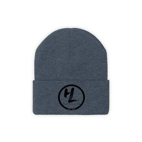 HL by HookieLife Knit Beanie (Midnite Black Emblem)