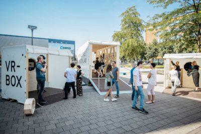 Container und VR Boxen
