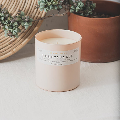 "VELA AURA ""Honeysuckle"" L.O.V Indie Candles"
