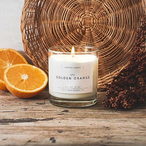 """VELA ALL NATURAL """"Golden Orange"""" L.O.V Indie Candles"""