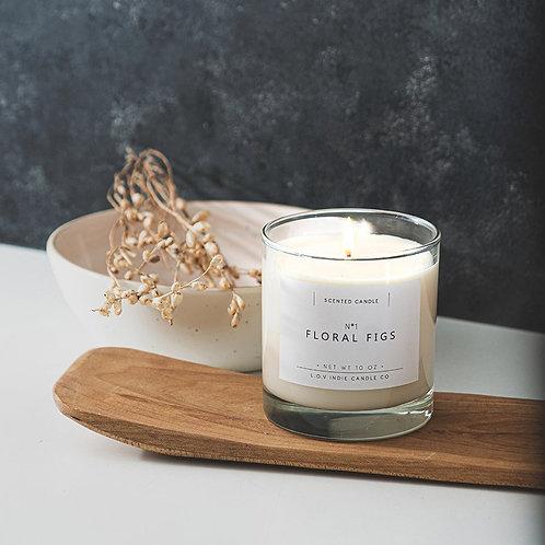"VELA ALL NATURAL ""Floral Figs"" L.O.V Indie Candles"