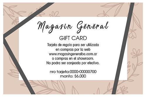 Copia de Gift Card 6000