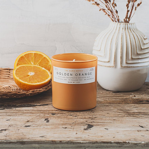 "VELA AURA ""Golden Orange"" L.O.V Indie Candles"
