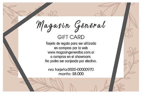 Gift Card 8000