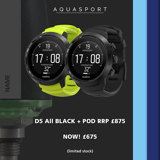 Suunto D5 All Black + POD Deal
