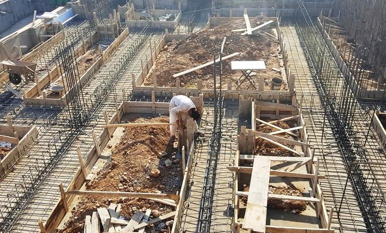 Strip Foundation  Steel & Shuttering