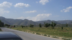Margalla Hills View from D-12, Islamabad.