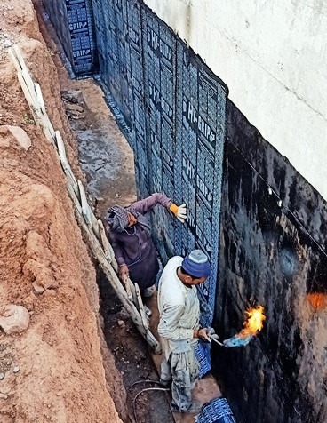 Water Proofing Retaing Walls
