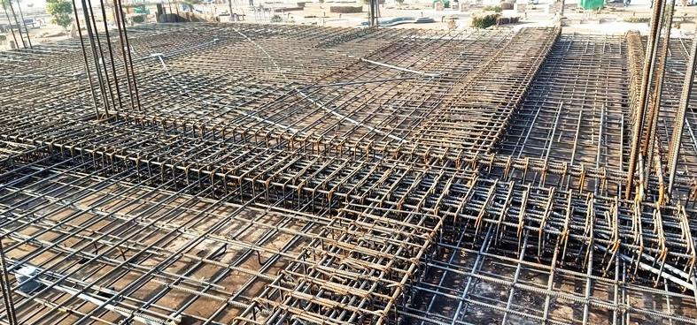 Slab - Column - Beam Steel Fixing