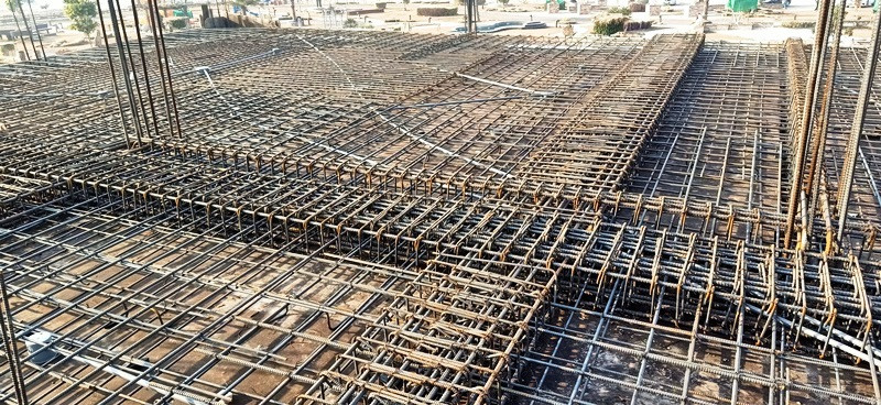 Slab - Column - Beam Steel Fixing
