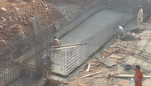 Base Concreting of Swiming Pool