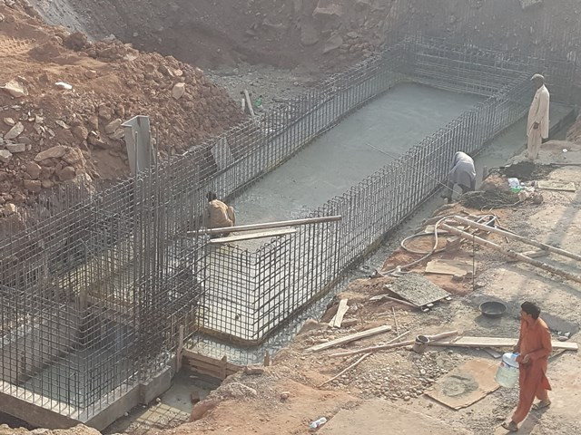 Base Concreting of Swiming Pool