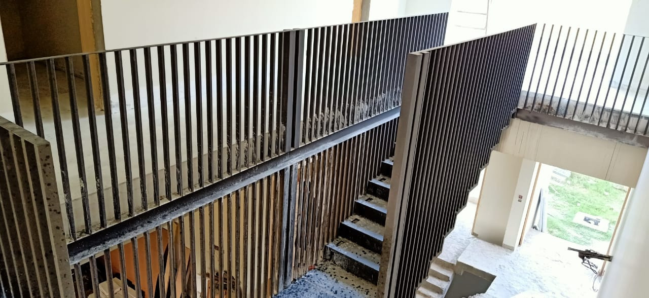 Steel staircase in Progress