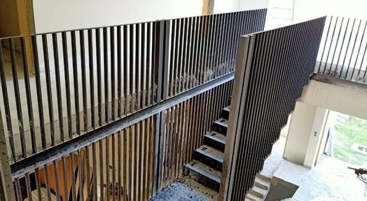 Steel staircase in Progress