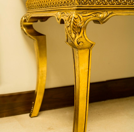 Console, carved, gilded
