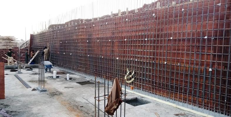 Retaining Wall Steel Fixing
