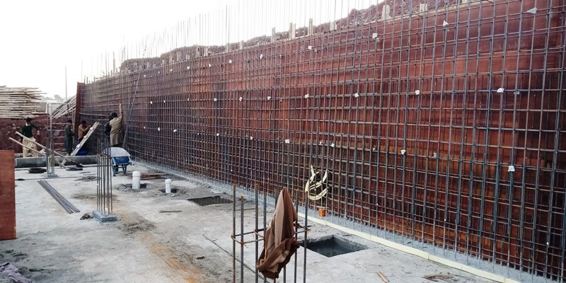 Retaining Wall Steel Fixing