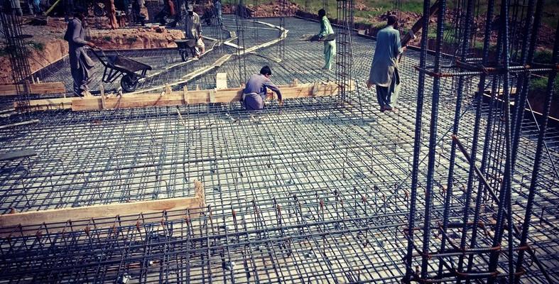Raft Steel Fixing
