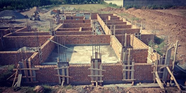 Brick masonry uptill DPC