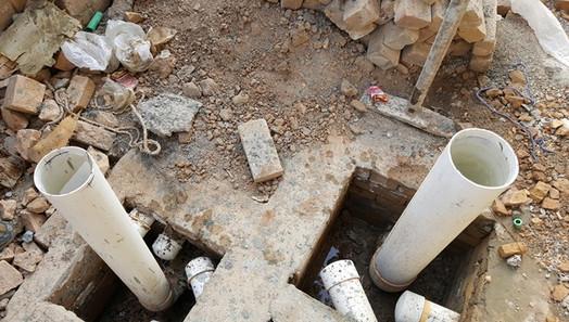 Water Drainage Pipes Tesing