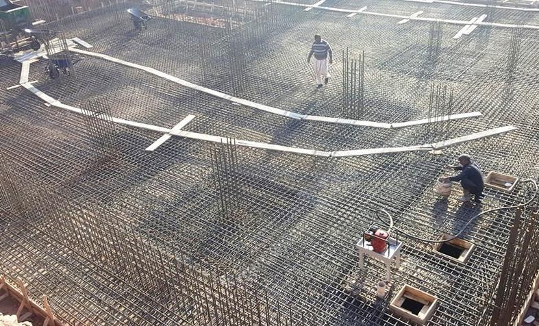 Preparation for Concrete Pouring