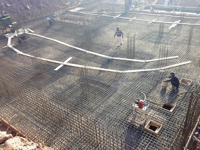 Preparation for Concrete Pouring
