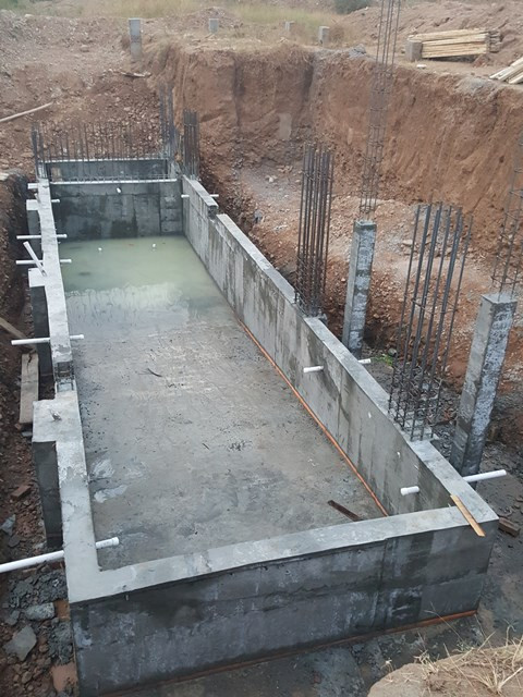 Piping in Swiming pool Structure