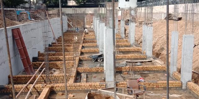 Brick Masonary for Column Beam Structure