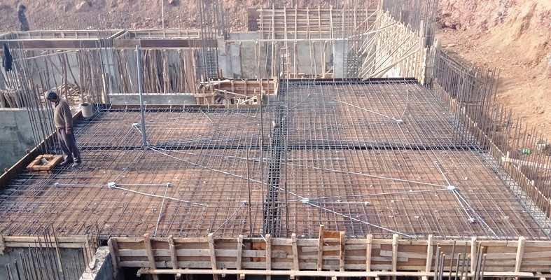 Slab Steel fixing and Services