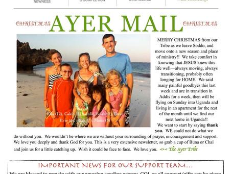 Christmas Letter 2015