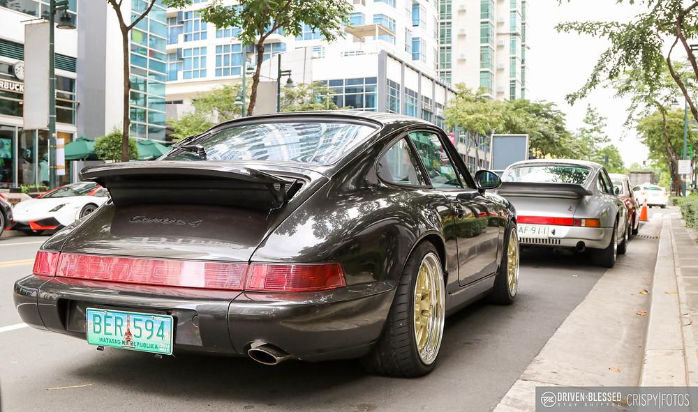 CarPornRacing shop car Porsche 911 Carrera rear passenger side profile