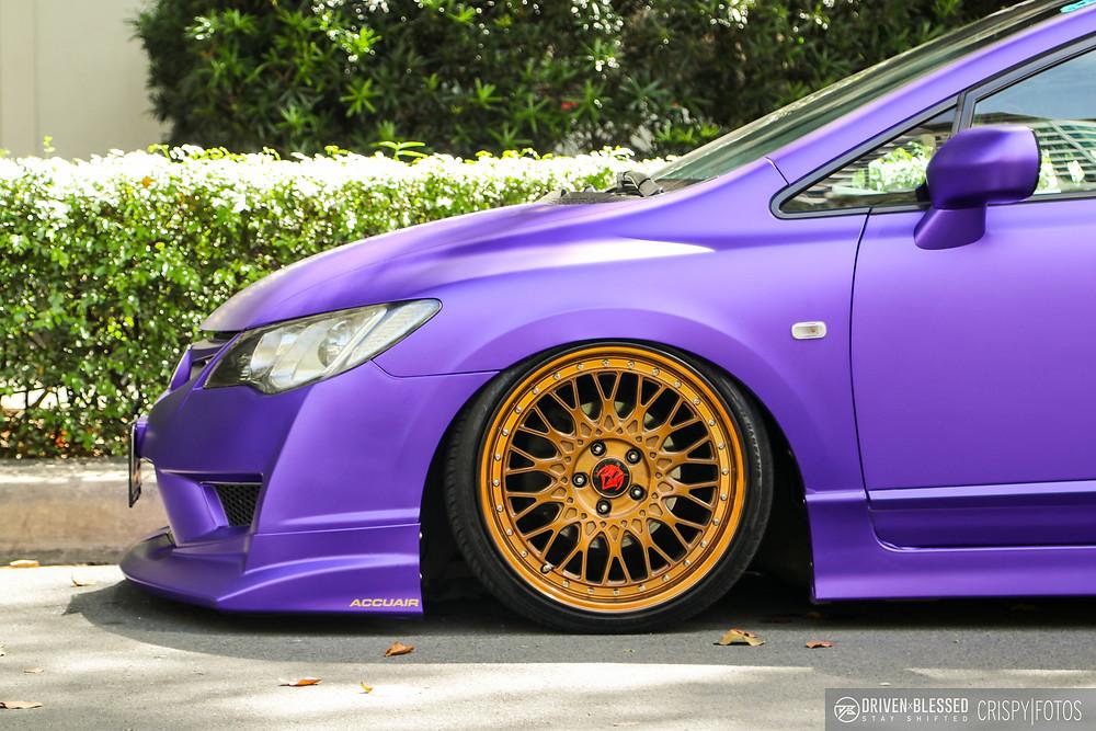 VIP Honda Civic wheel close up