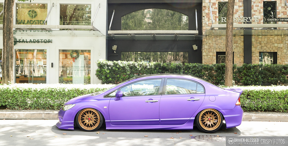 VIP Honda Civic side profile