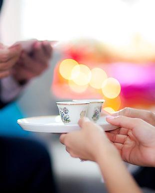 Chinesische Hochzeit Teezeremonie